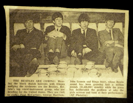 Collection of Beatles newspaper articles from the 60's