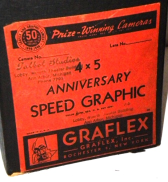 Rare 4X5 Anniversary Speed Graphic Box